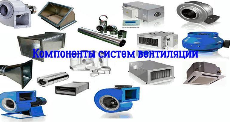 Состав и назначение компонентов(элементов)систем вентиляции