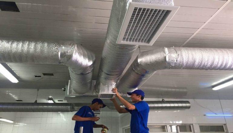 Монтаж систем вентиляции в Москве