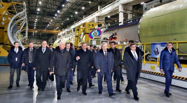 Юрием Борисовым посетила с рабочим визитом авиастроительные предприятия Сибири